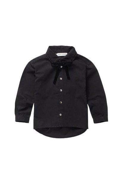 Sproet & Sprout Blouse Collar Bow Black (top)