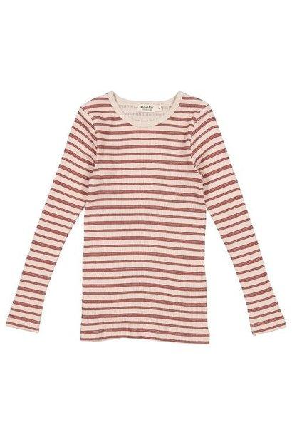 MarMar Copenhagen Tani Modal High Stripe Light Wine Stripe (shirt)