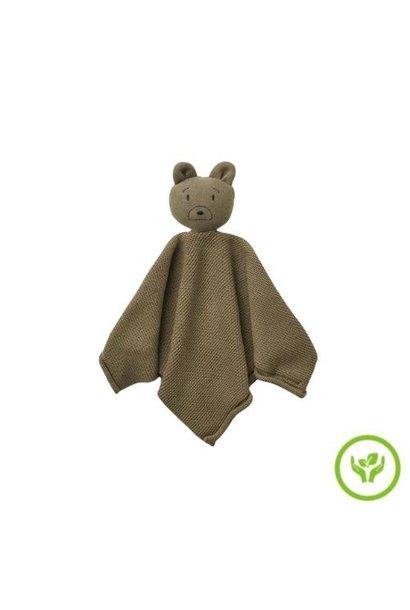 Liewood Milo knit cuddle cloth Mr bear khaki