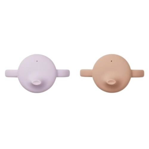 Liewood Neil cup - 2 pack Light lavender rose mix (tuitbeker)-3