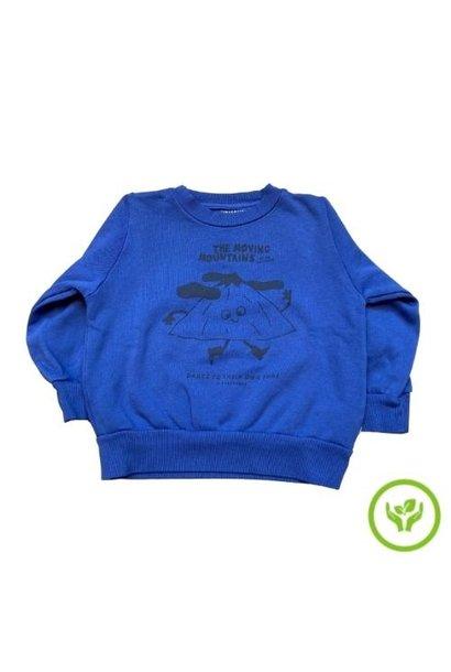 Tinycottons Moving Mountains Sweatshirt ultramarine/deep blue (trui)