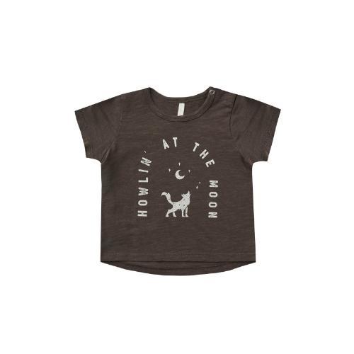 Rylee + Cru Basic Tee Howlin' At The Moon vintage-black (shirt)-1