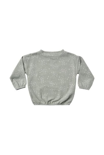 Rylee + Cru slouchy pullover meadow blue-fog (trui)