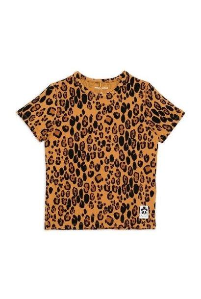 Mini Rodini Basic leopard short sleeve tee Beige (shirt)