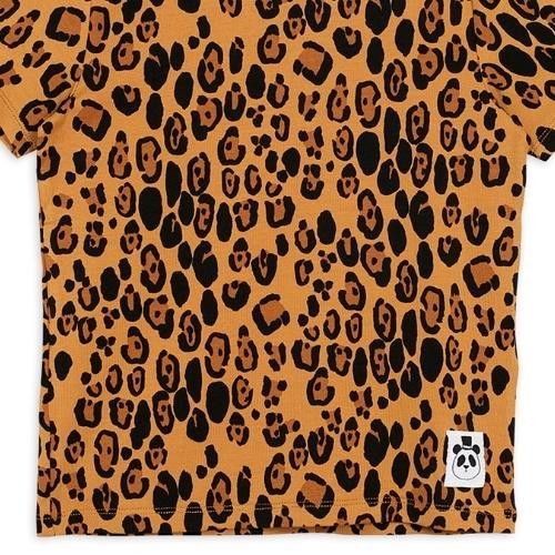 Mini Rodini Basic leopard short sleeve tee Beige (shirt)-3