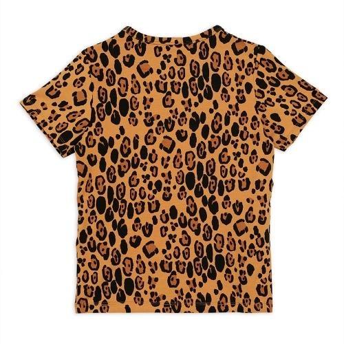 Mini Rodini Basic leopard short sleeve tee Beige (shirt)-4