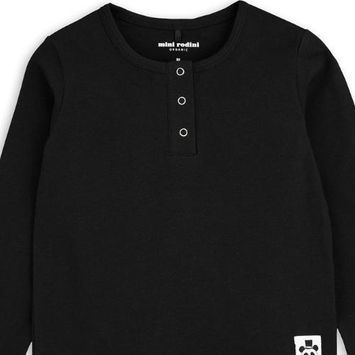 Mini Rodini Basic grandpa Black (shirt)-2
