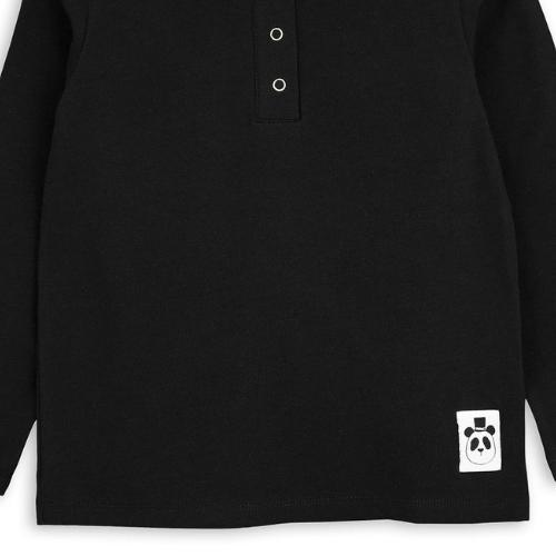 Mini Rodini Basic grandpa Black (shirt)-3