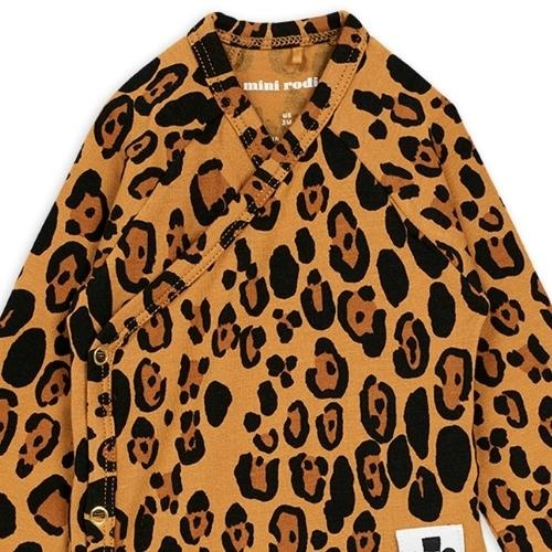 Mini Rodini Basic leopard wrap body Beige (romper)-2