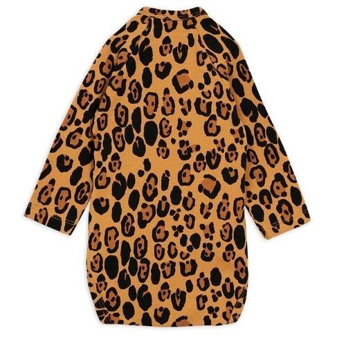 Mini Rodini Basic leopard wrap body Beige (romper)-4