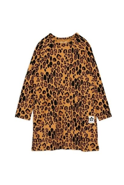 Mini Rodini Basic leopard long sleeve dreshort sleeve Beige (jurk)
