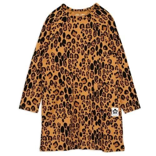 Mini Rodini Basic leopard long sleeve dreshort sleeve Beige (jurk)-1