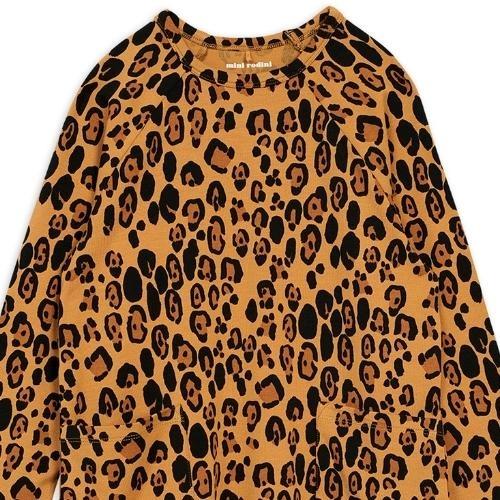 Mini Rodini Basic leopard long sleeve dreshort sleeve Beige (jurk)-2