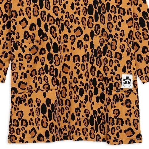 Mini Rodini Basic leopard long sleeve dreshort sleeve Beige (jurk)-3