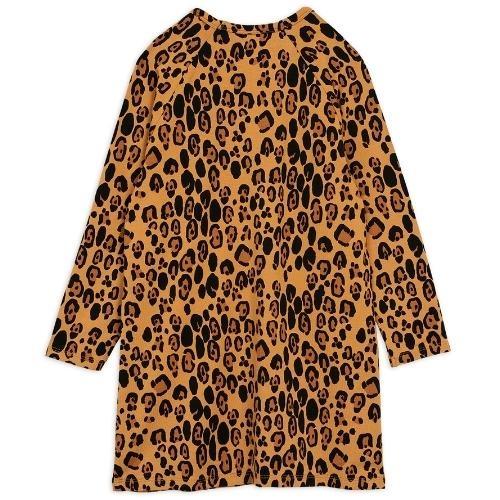 Mini Rodini Basic leopard long sleeve dreshort sleeve Beige (jurk)-4