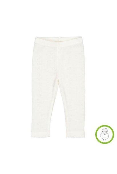 MarMar Copenhagen Leg Baby Wool Pointelle Natural (legging)
