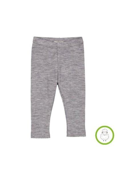 MarMar Copenhagen Leg Baby Wool Pointelle Grey Melange (legging)