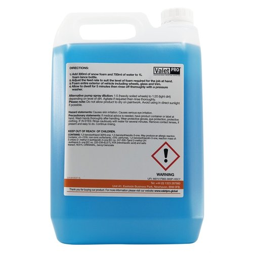 ValetPro SnowFoam / Foamula 1 - 5 Liter - Snow Foam Voorwas