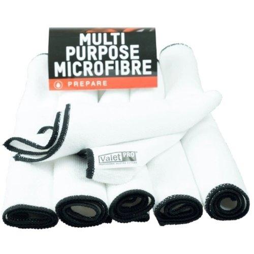 ValetPro Microvezel /  Multi Purpose 35 x 35 cm Microvezel 6 pack witte allround microvezeldoekjes 6-pack