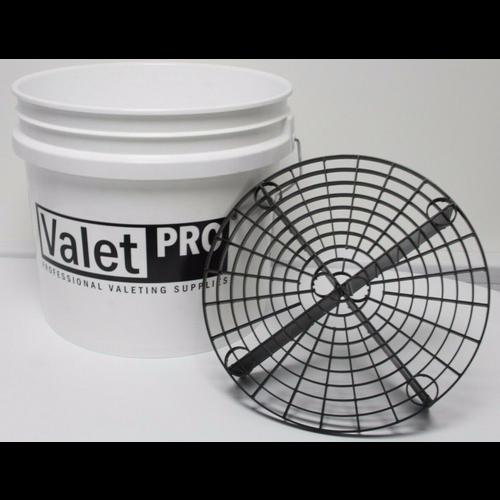 ValetPro Grit Guard emmer 3,5 Gallon 12,5 ltr Wit