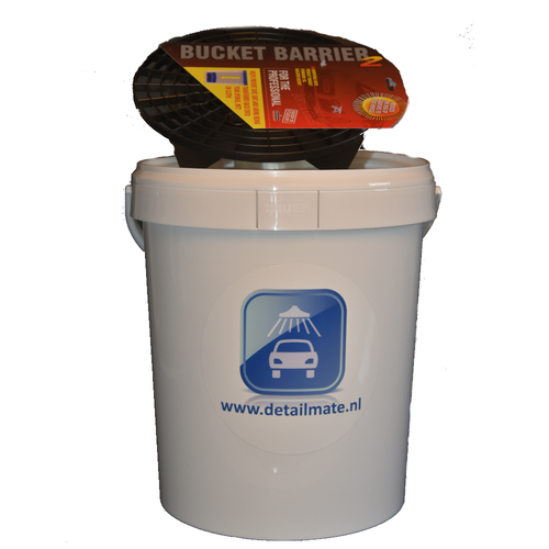 Axion Wasemmer met Deksel en Grit 15 liter