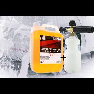 ValetPro SnowFoam Pakket  5 Ltr Advenced Neutral + PA Foam-Lance met karcher K-serie koppeling
