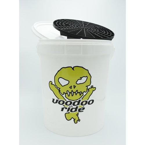 VooDoo Ride Wasemmer incl.deksel en grit, 15 liter, Voodoo Ride -  Wit