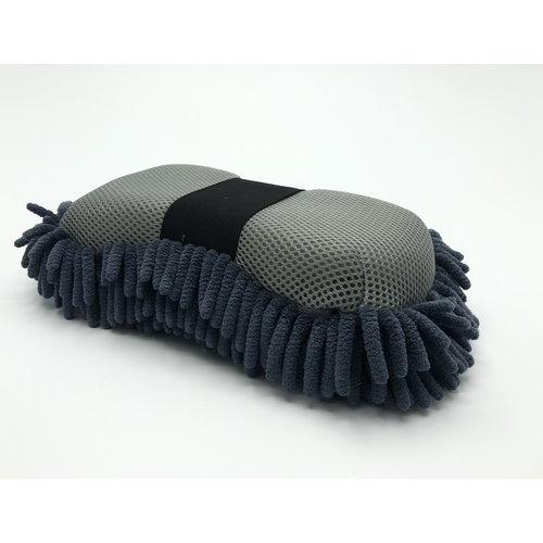 Detailmate Detailmate-Microfiber spons-Tweezijdige werking-met handige strap-on  Grijs