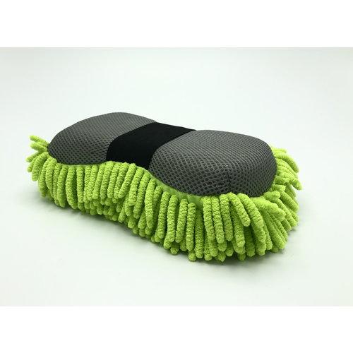 Detailmate Detailmate-Microfiber spons-Tweezijdige werking-met handige strap-on  Groen
