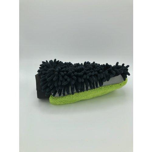 Detailmate Detailmate-Wash-Mitt met drie werkzame zijdes  Groen/Zwart