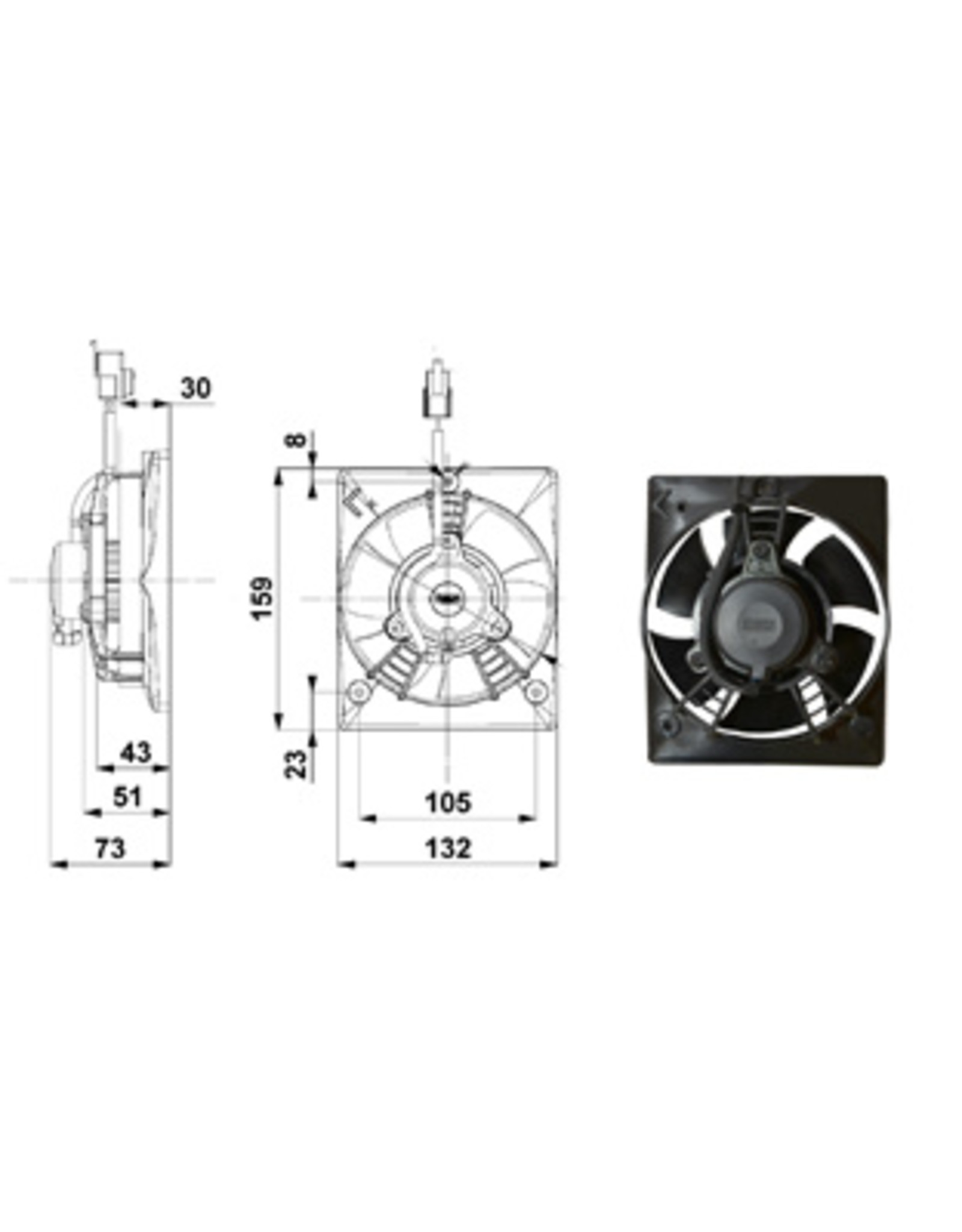 """Comex 4.7"""" (120mm Shrouded) Pusher/Blower"""