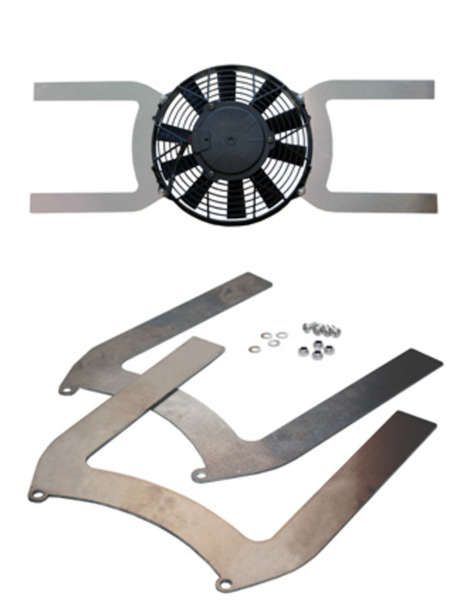 "Comex Aluminium Universal Fan Brackets for 9"" (225mm) Fan"