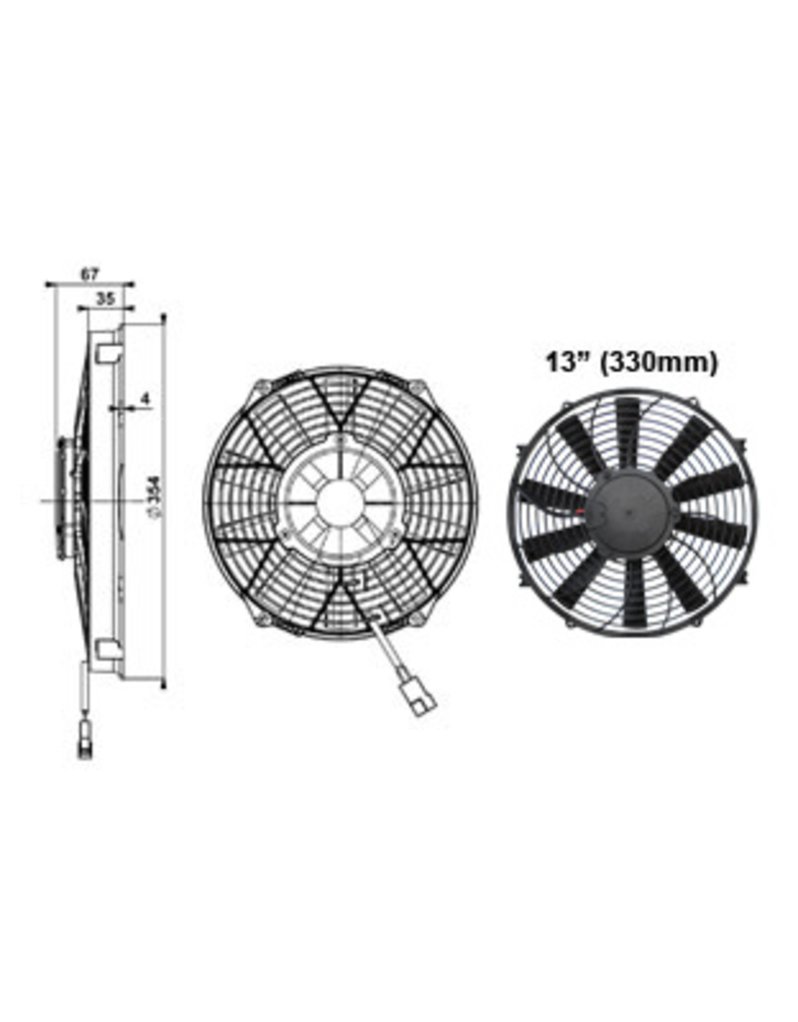 "Comex 13"" (330mm) Pusher/Blower Fan"
