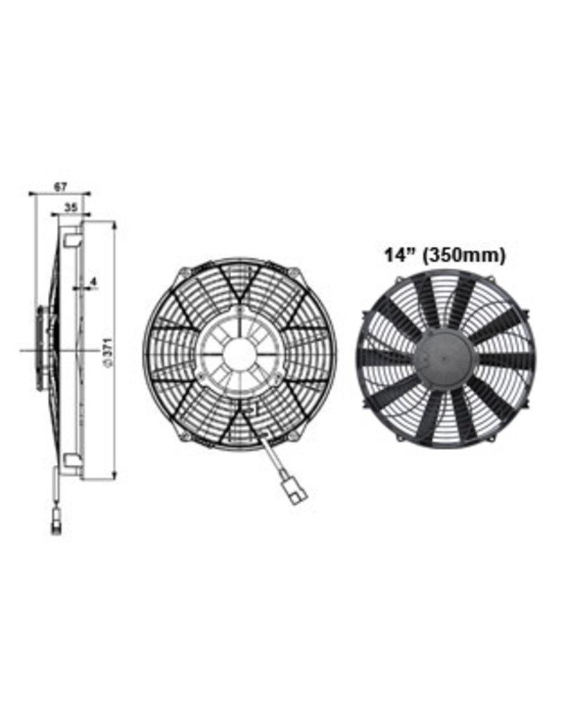 """Comex 14"""" (350mm) Puller/Sucker Fan"""