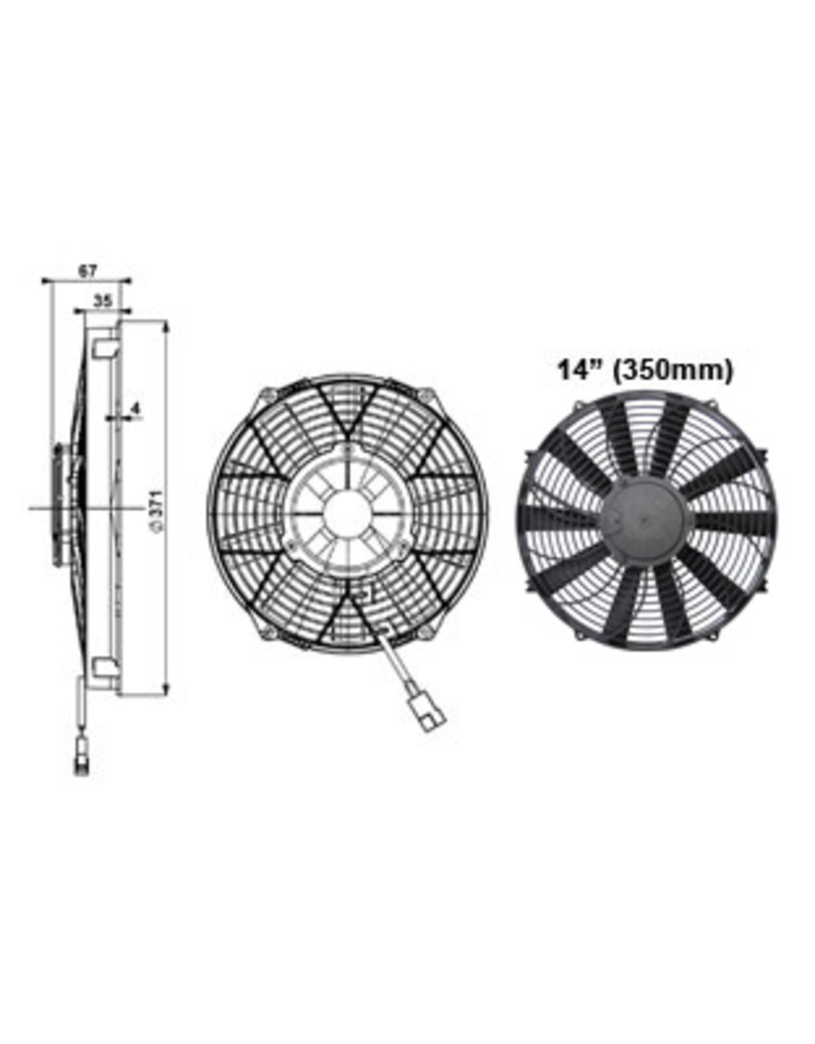 """Comex 14"""" (350mm) Pusher/Blower Fan"""