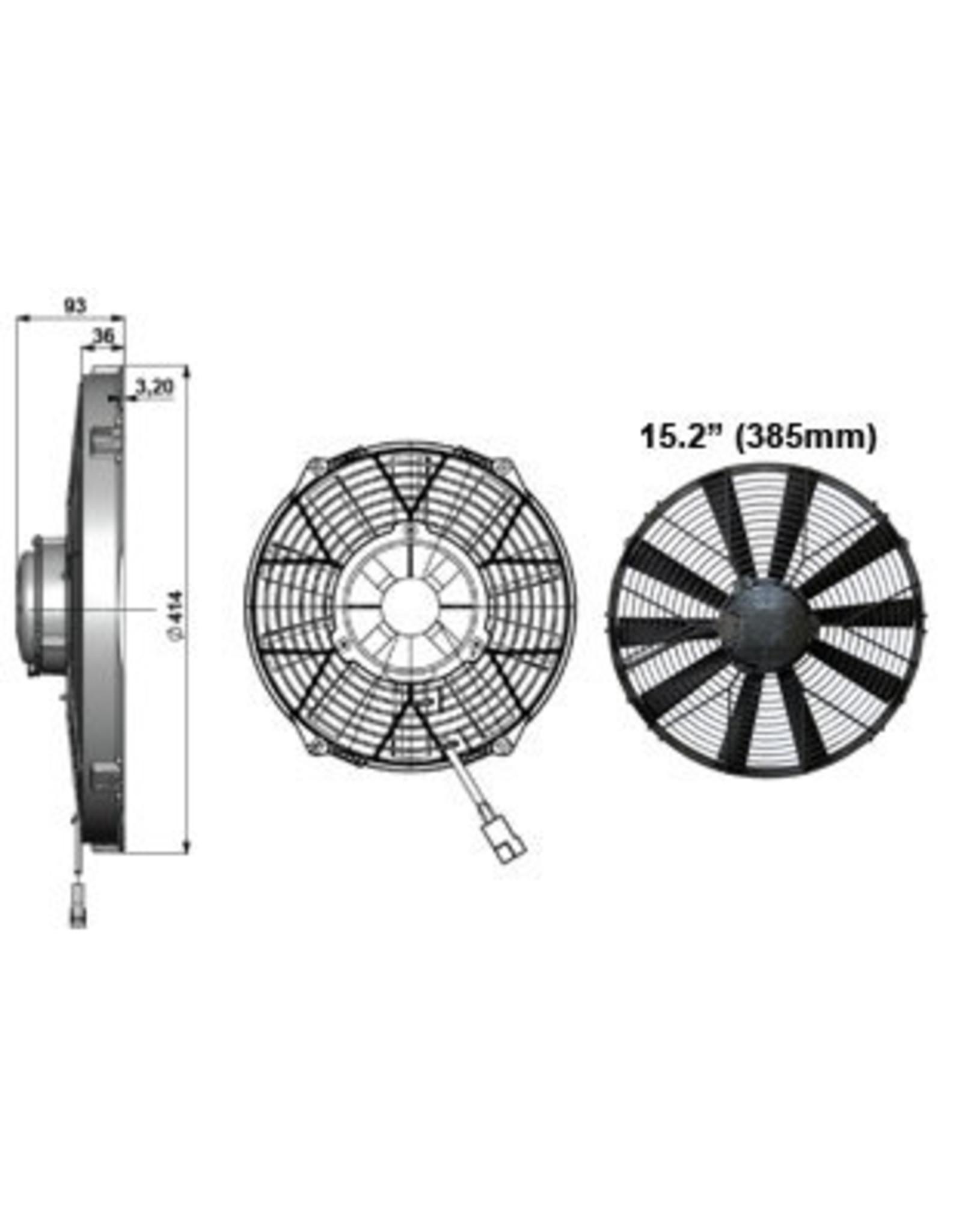 """Comex 15.2"""" (385mm) Pusher/Blower Fan"""