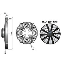 "Comex 15.2"" (385mm) Pusher/Blower"
