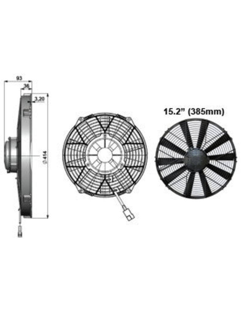 """Comex 15.2"""" (385mm) Pusher/Blower - Very High Power"""