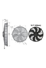 "Comex 16.5"" (420mm) Sucker/Puller Fan"