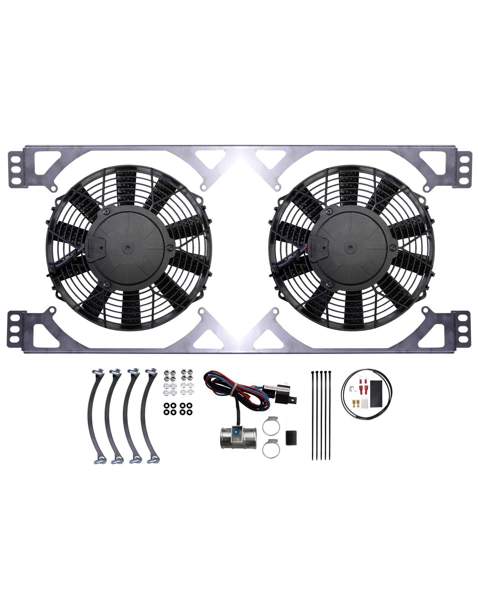 Revotec Lotus Elan Late S3 & Plus 2 (Spitfire Wide Radiator) Twin Fan