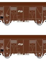 Rivarossi HR6430 Set geslotengoederenwagens