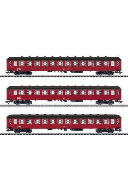 42694 Reisezugwagen-Set, 3 Wag.,DSB