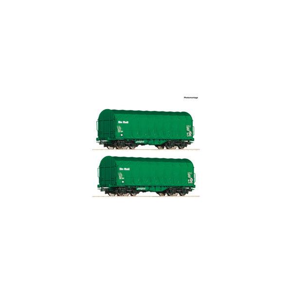 Roco 76049 2er Set Schiebeplanwag.