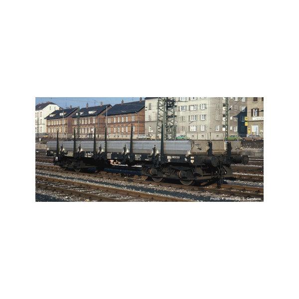 Fleischmann 826701 4-achs.Flachwagen. schwarz