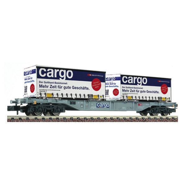 Fleischmann 825209 Containertragwagen Sgns + 2x W