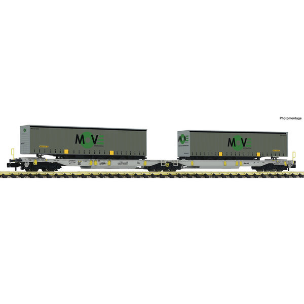 Fleischmann 825025 Doppeltaschen-Gelenkwagen T200