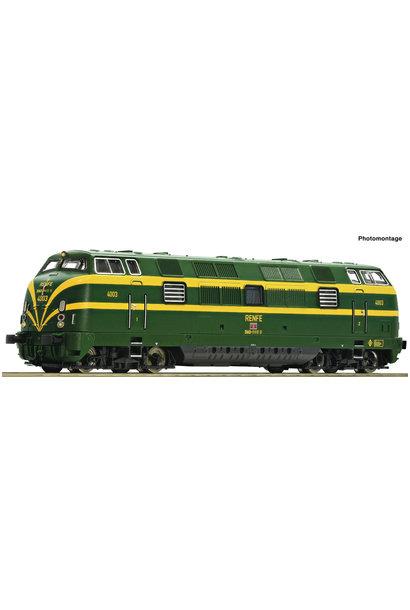 725010 Diesellok D.340 grün/gelb