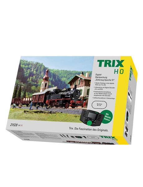 Trix 21528 Digitale startset stoomloc BR74 + goederentrein