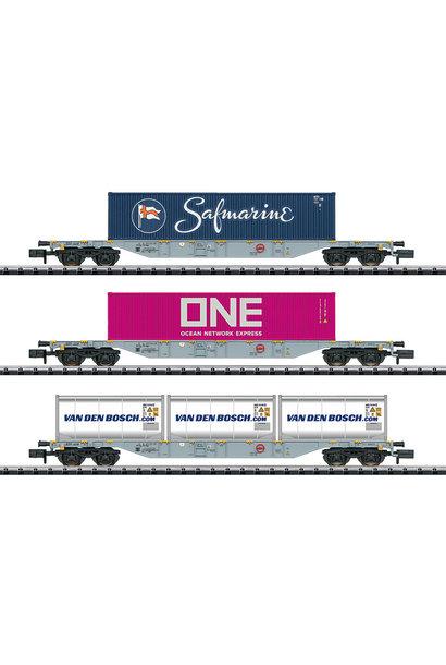 15228 Güterwagen-Set Containerverke