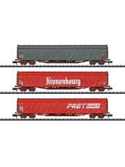 Trix 15115 Schiebeplanwagen-Set Rils SNC
